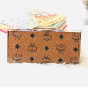 Vintage logo wallet clutch coin holder vinyl retro